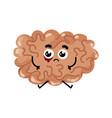 human sick brain cartoon character vector image vector image
