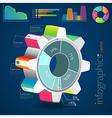 infographic cogwheel vector image