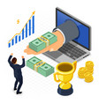 internet online earnings isometric concept vector image