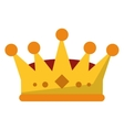 Isolated royalty crown design vector image vector image