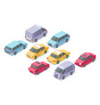 isometric cars isolated icons vector image vector image