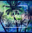its summer time background vector image vector image