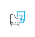 learning music linear icon concept learning music vector image