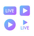 live stream violet icon on a white background vector image vector image