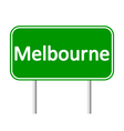 Melbourne road sign vector image vector image