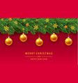 merry christmas gold ball concept background vector image