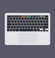 modern laptop computer keyboard with blank bkack vector image