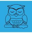 owl sleeping design vector image