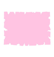 Parchment old paper banner pink vector image vector image