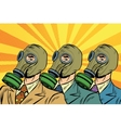 People in gas masks Sots art style vector image