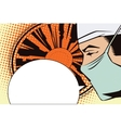 People in retro style Doctor in operating room vector image