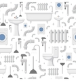 Plumbing service flat icons seamless pattern vector image