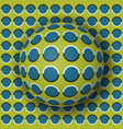 polka dot ball rolling along the polka dot surface vector image vector image