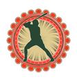 port emblem baseball vector image vector image