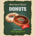retro fast food donuts poster vector image
