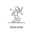 rock star line icon linear concept vector image
