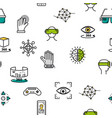 seamless pattern with vr icons vector image vector image