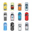 set car top view set vector image vector image