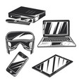 set gadgets badges logos labels posters etc vector image vector image