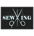 sewing scissors symbol vector image vector image