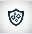 shield gear icon for web and ui on white vector image vector image