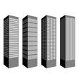 skyscraper symbols vector image vector image