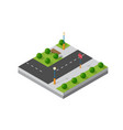 small isometric module vector image vector image