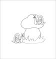 snails in mushroom vector image