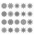 snowflakes set colorless vector image