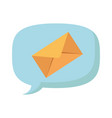 speech bubble with envelope mail vector image vector image