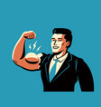 successful businessman business success vector image