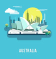 sydney opera house sightseeing landmark australia vector image