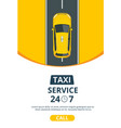 taxi banner design template for taxi service vector image