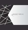 template abstract white geometric shape polygons vector image vector image