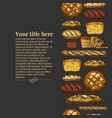 template with bakery products vector image vector image