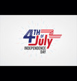 typography 4th july greeting card independence vector image
