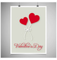 valentines day card with grey background vector image vector image