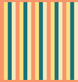 vertical stripes yellow teal blue peach pattern vector image vector image