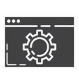 web optimization glyph icon seo and development vector image vector image