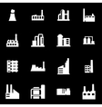 white factory icon set vector image vector image