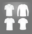white t shirt set vector image