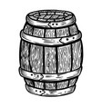 wooden barrel isolated on white background design vector image vector image