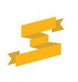 gold big ribbon isolated vector image