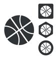 Basketball icon set monochrome vector image