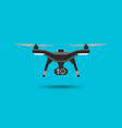 drone icon copter or quadcopter with camera vector image