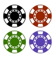 Empty Color Casino Poker Chips Set vector image