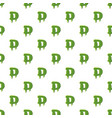 letter d made of green slime vector image