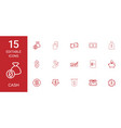 15 cash icons vector image vector image