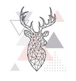 abstract geometric head of a forest deer vector image vector image