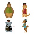 Animals with hats vector image
